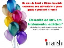 Promoção de Aniversário da Clínica Imanishi